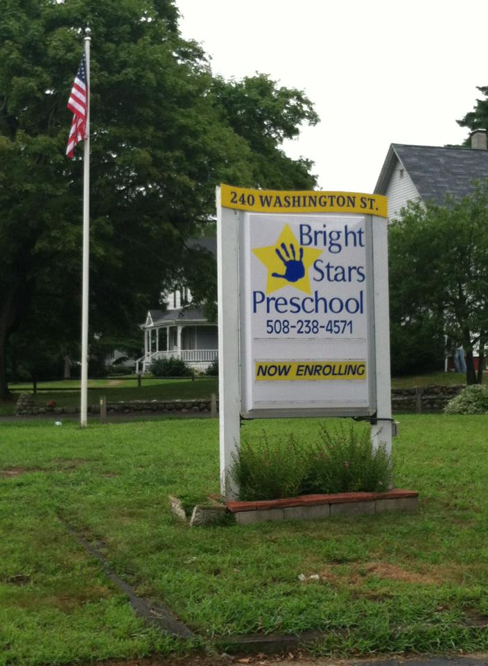 bright stars preschool easton sign